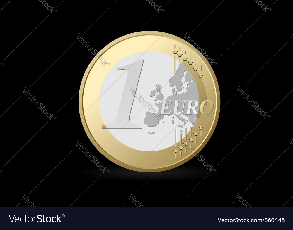 Euro coin vector | Price: 3 Credit (USD $3)