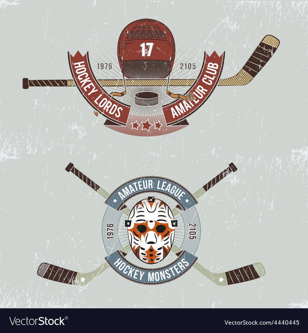 Hockey logos vector | Price: 1 Credit (USD $1)