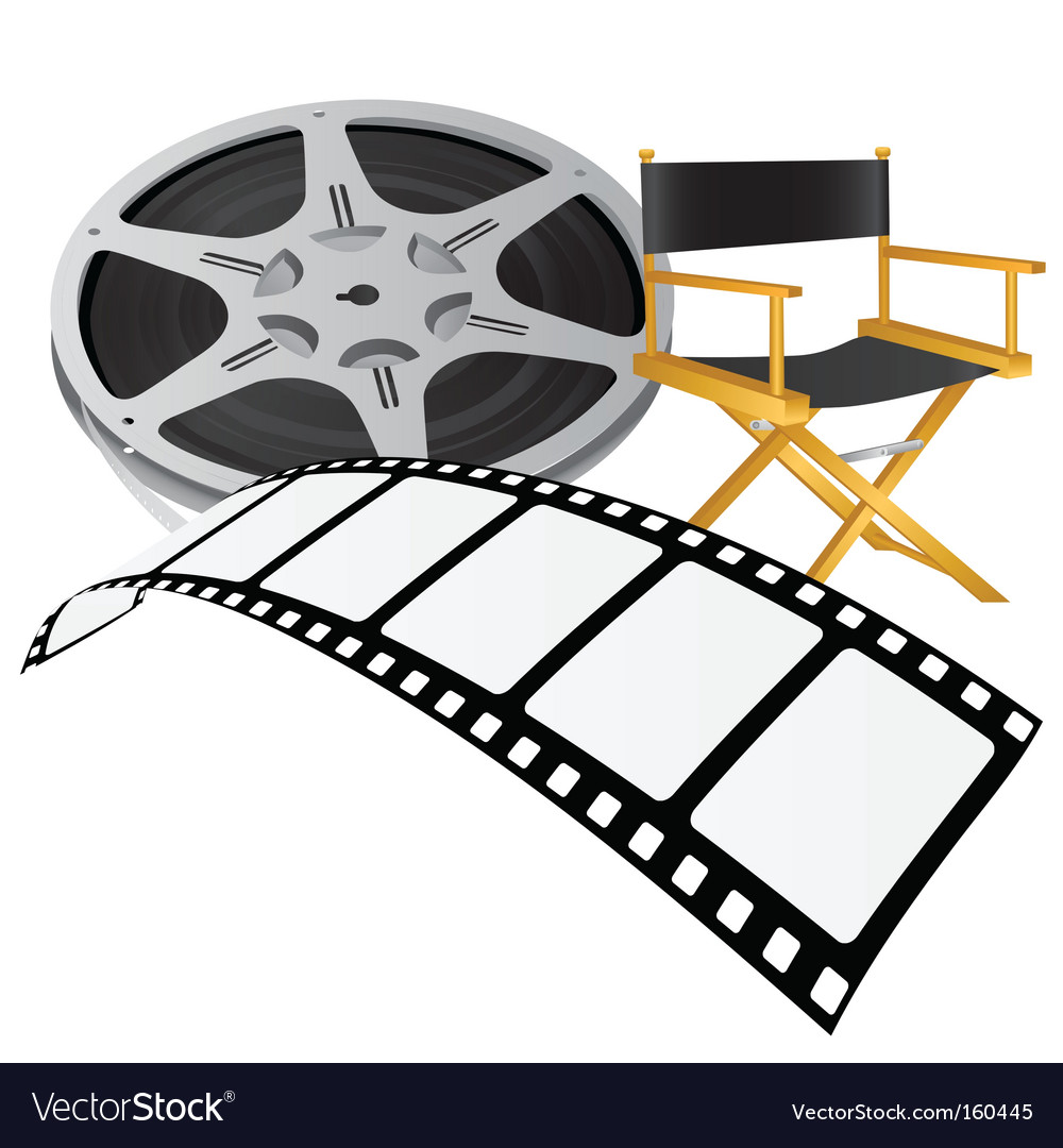 Movie reel vector | Price: 1 Credit (USD $1)