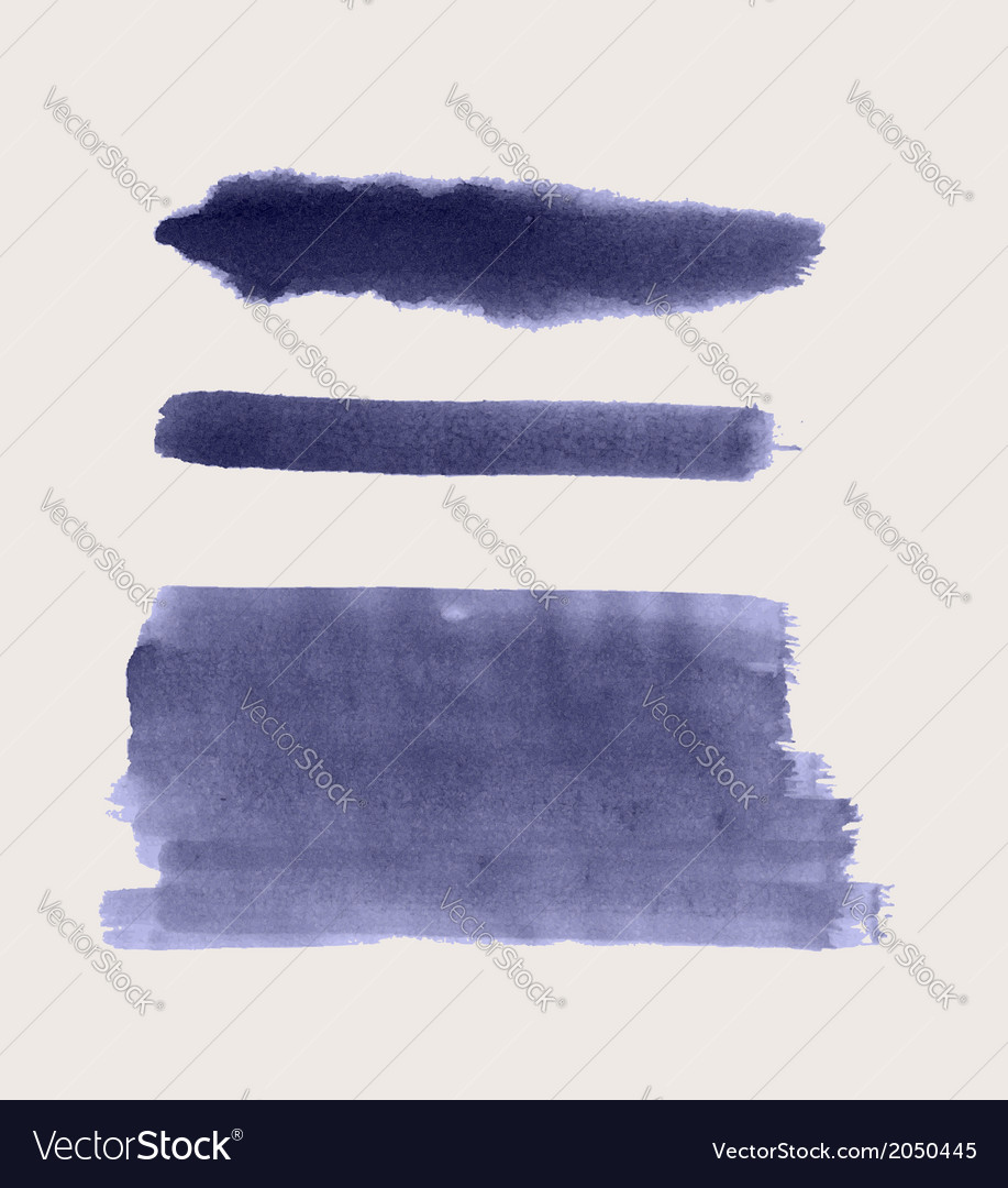 Set of watercolor paint strokes vector