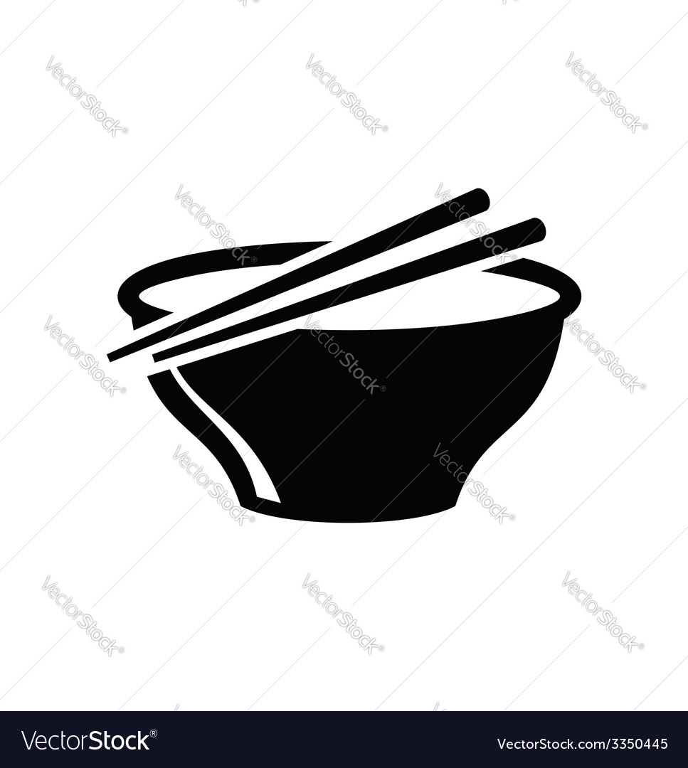 Soup in bowl vector | Price: 1 Credit (USD $1)