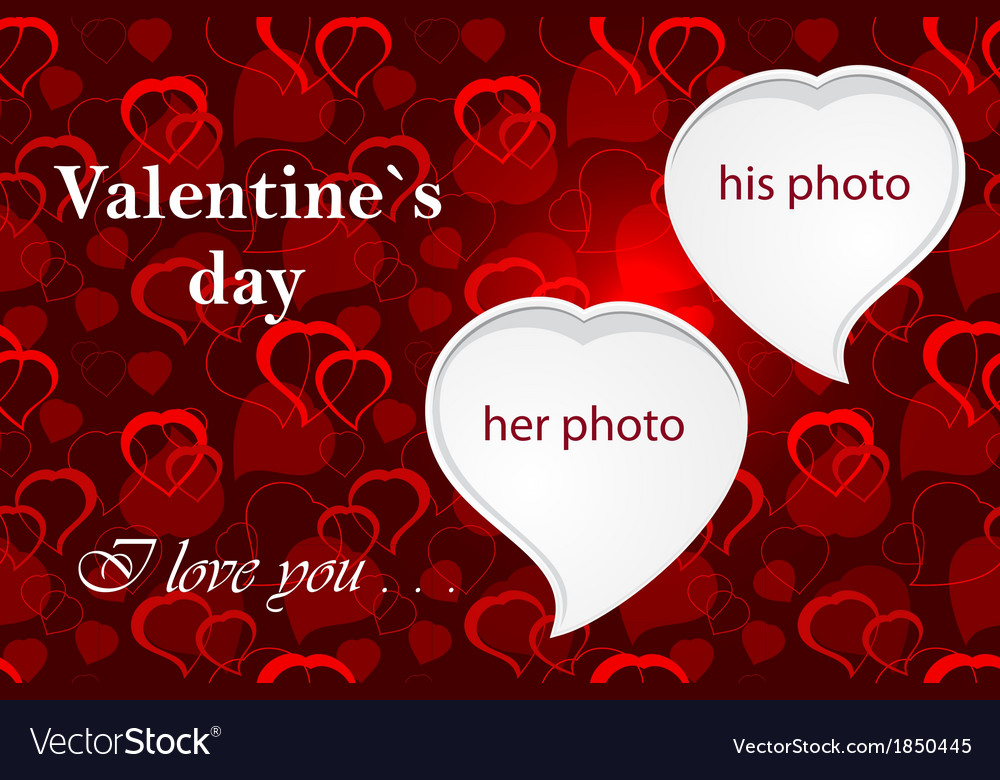 Valentines photo frame vector | Price: 1 Credit (USD $1)