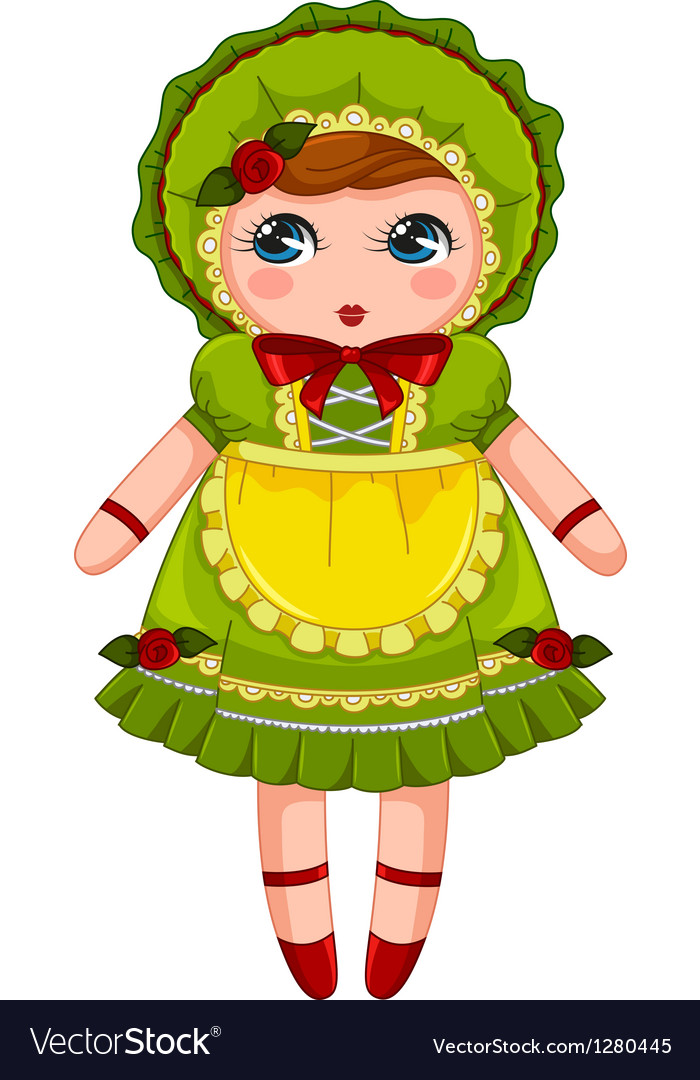 Vintage doll vector | Price: 1 Credit (USD $1)