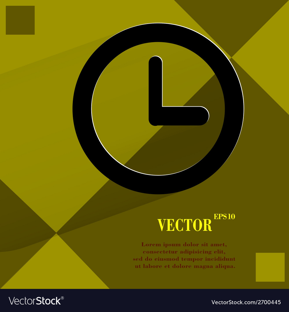 Watch flat modern web design on a flat geometric vector | Price: 1 Credit (USD $1)