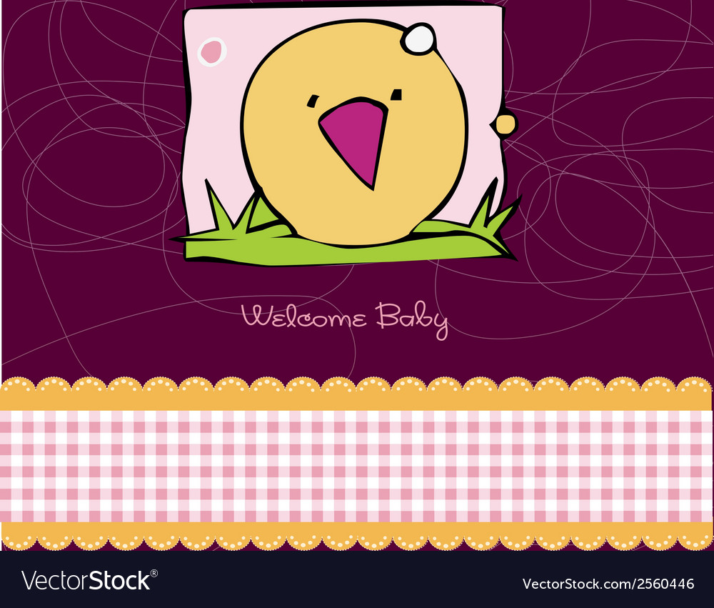 Birth card announcement with kitchen vector | Price: 1 Credit (USD $1)