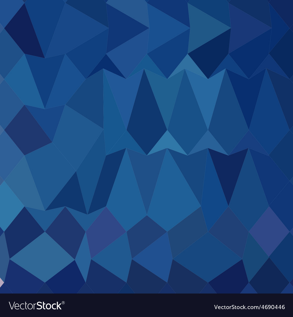 Cobalt blue abstract low polygon background vector | Price: 1 Credit (USD $1)