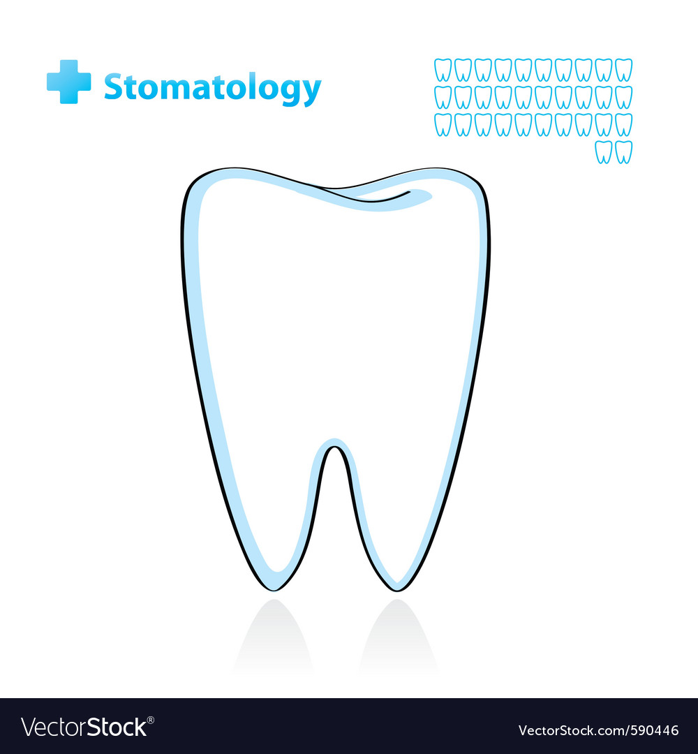 Dental background with tooth vector | Price: 1 Credit (USD $1)