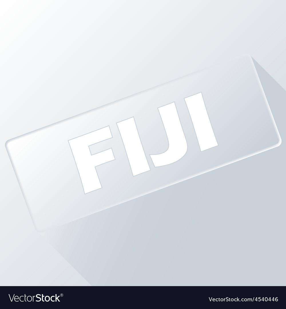 Fiji unique button vector | Price: 1 Credit (USD $1)