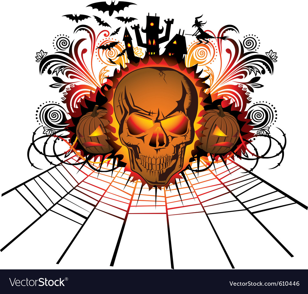 Halloween skull vector | Price: 1 Credit (USD $1)