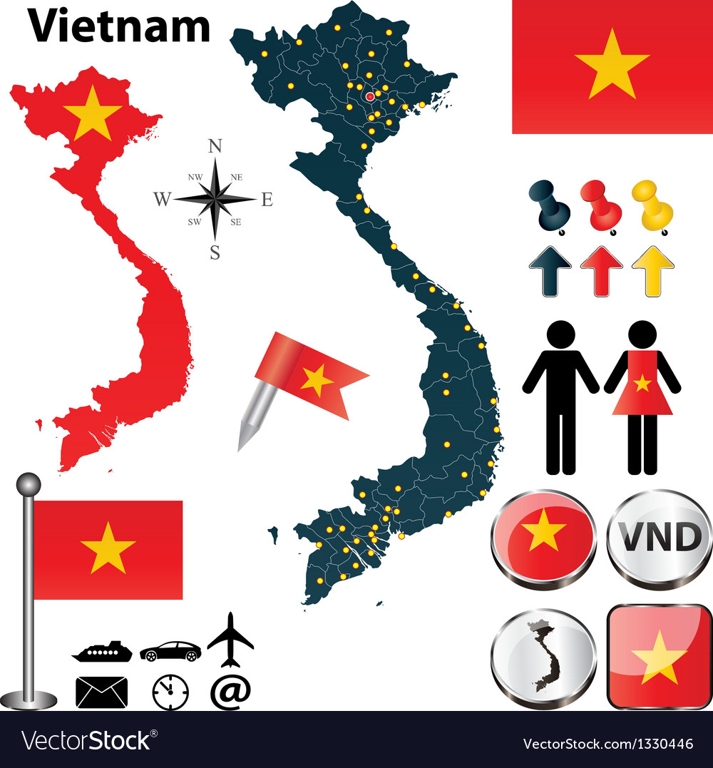 Map of vietnam vector | Price: 1 Credit (USD $1)
