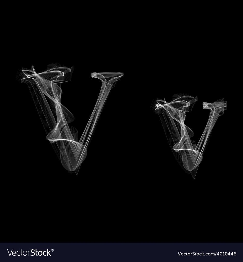 Smoke font letter v vector | Price: 1 Credit (USD $1)