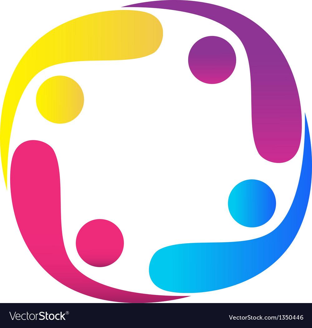 Teamwork swooshes logo vector | Price: 1 Credit (USD $1)