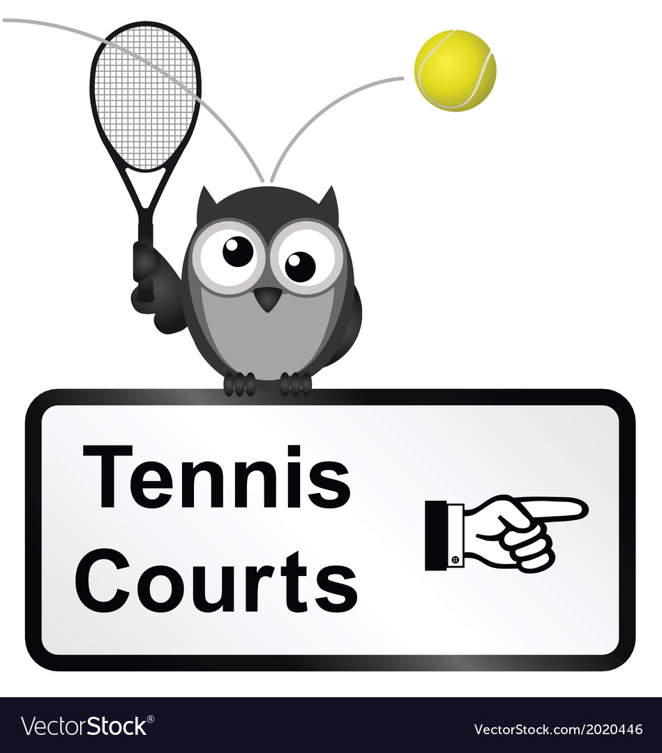 Tennis courts vector | Price: 1 Credit (USD $1)