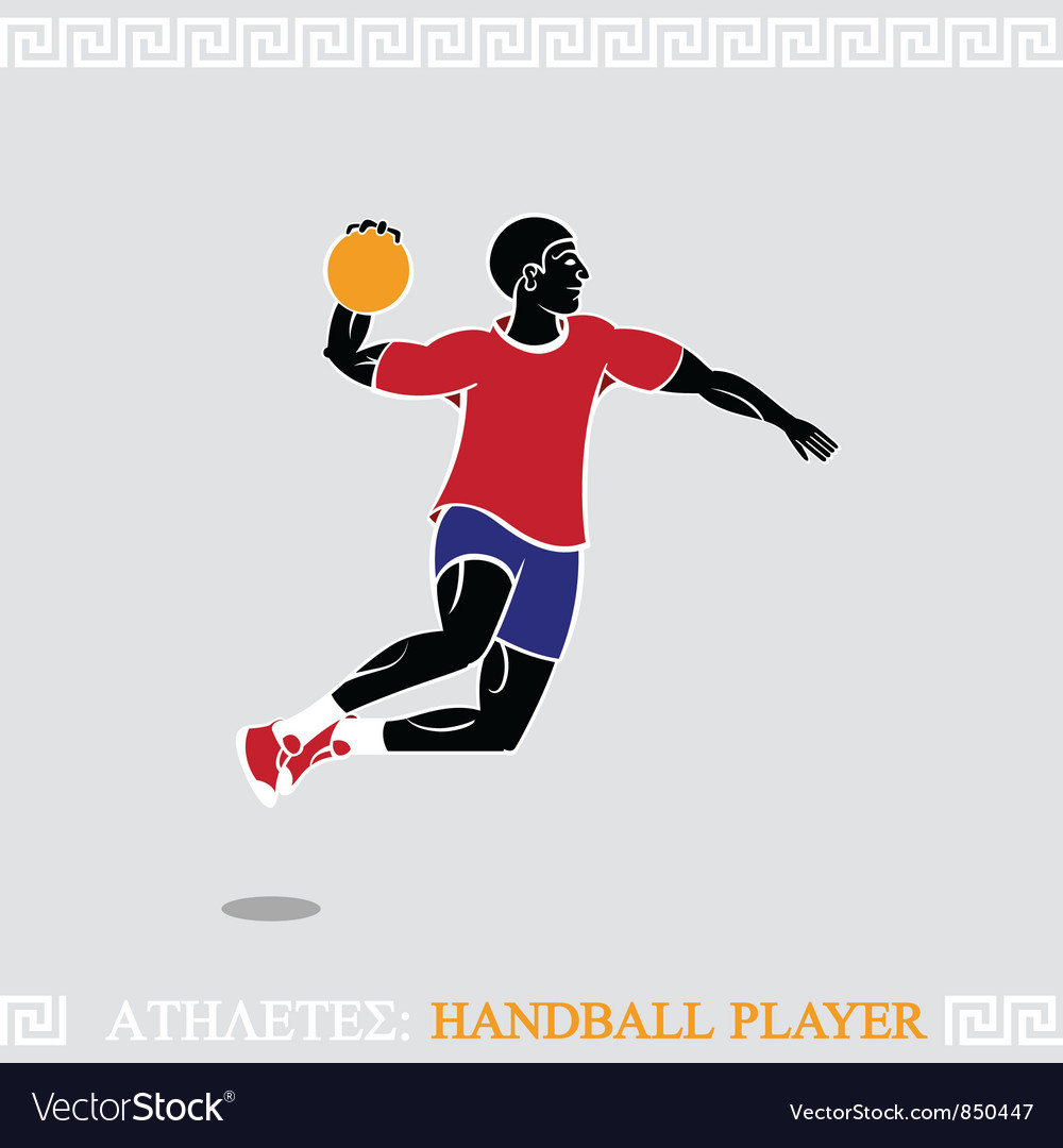 Athlete handball player vector | Price: 1 Credit (USD $1)