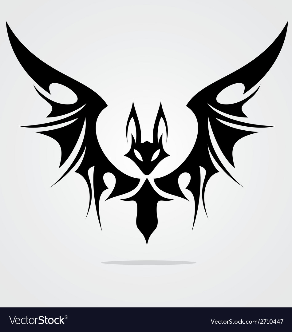 Bat tattoo design vector | Price: 1 Credit (USD $1)