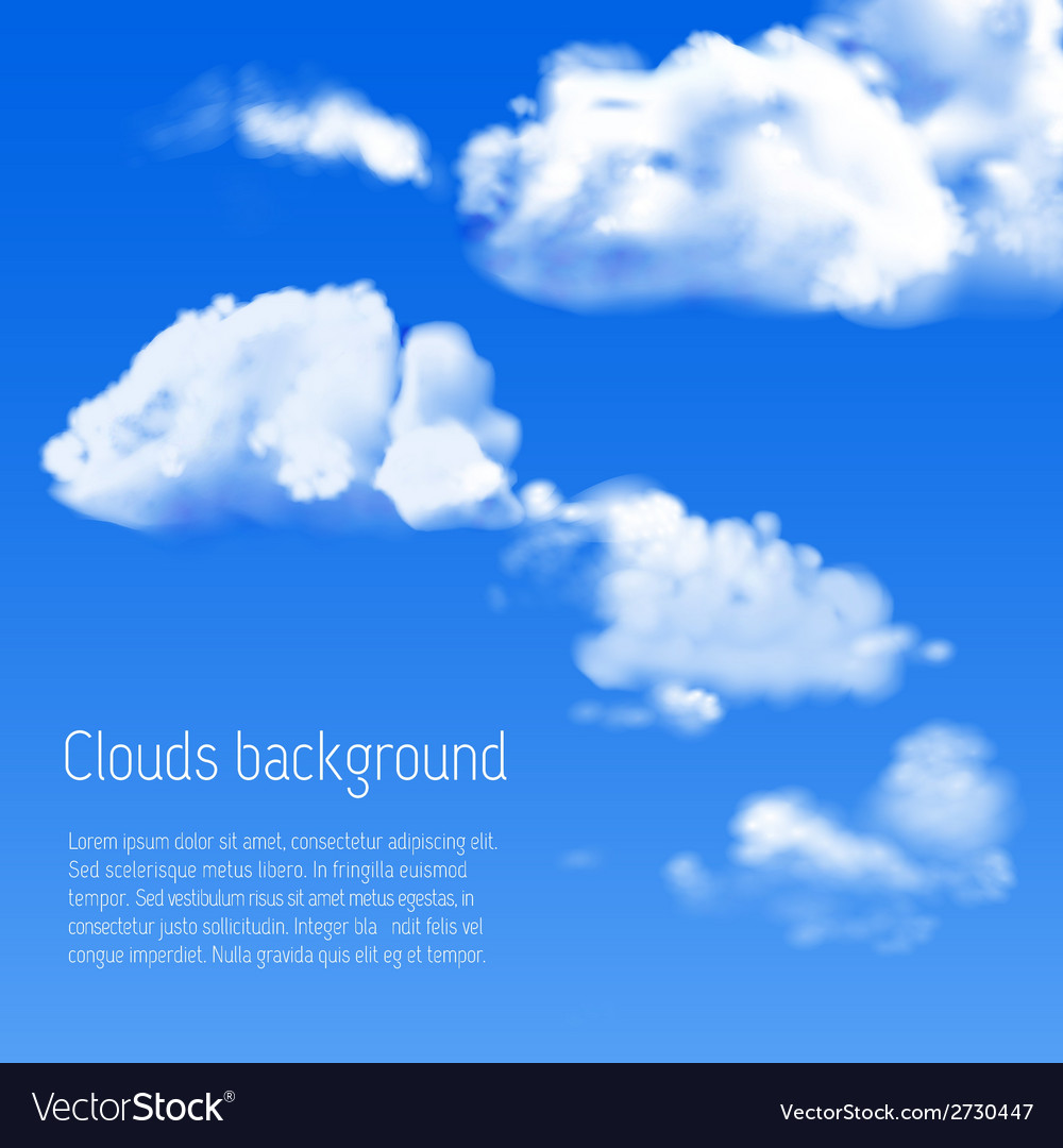 Blue sky with white clouds vector | Price: 1 Credit (USD $1)