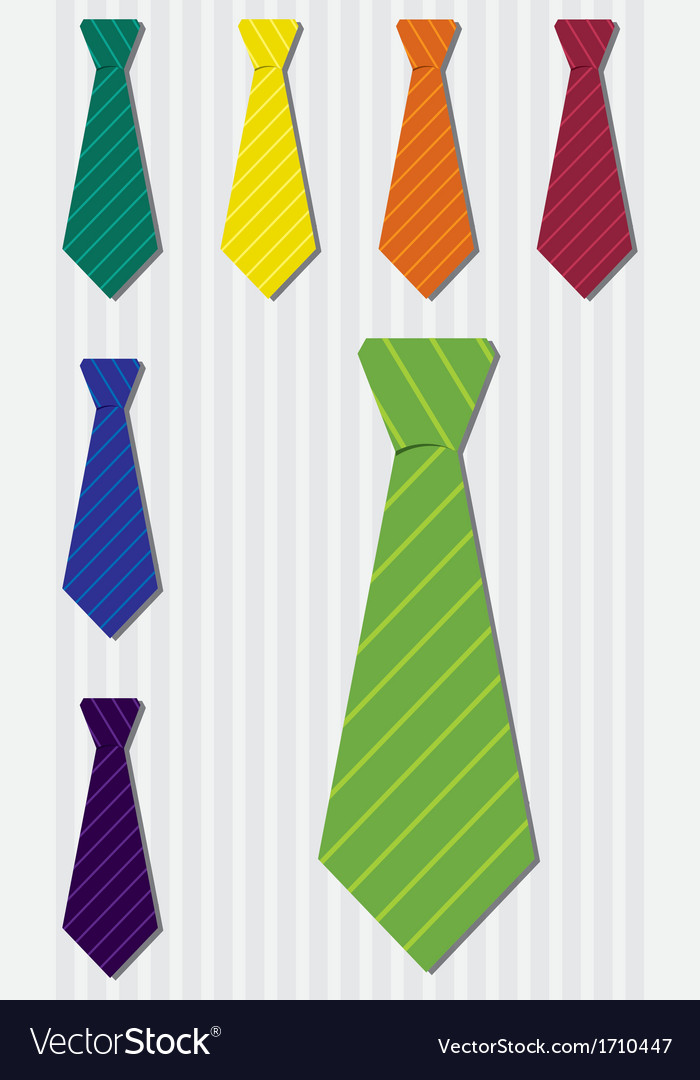 Bright pin stripe silk tie stickers in format vector | Price: 1 Credit (USD $1)