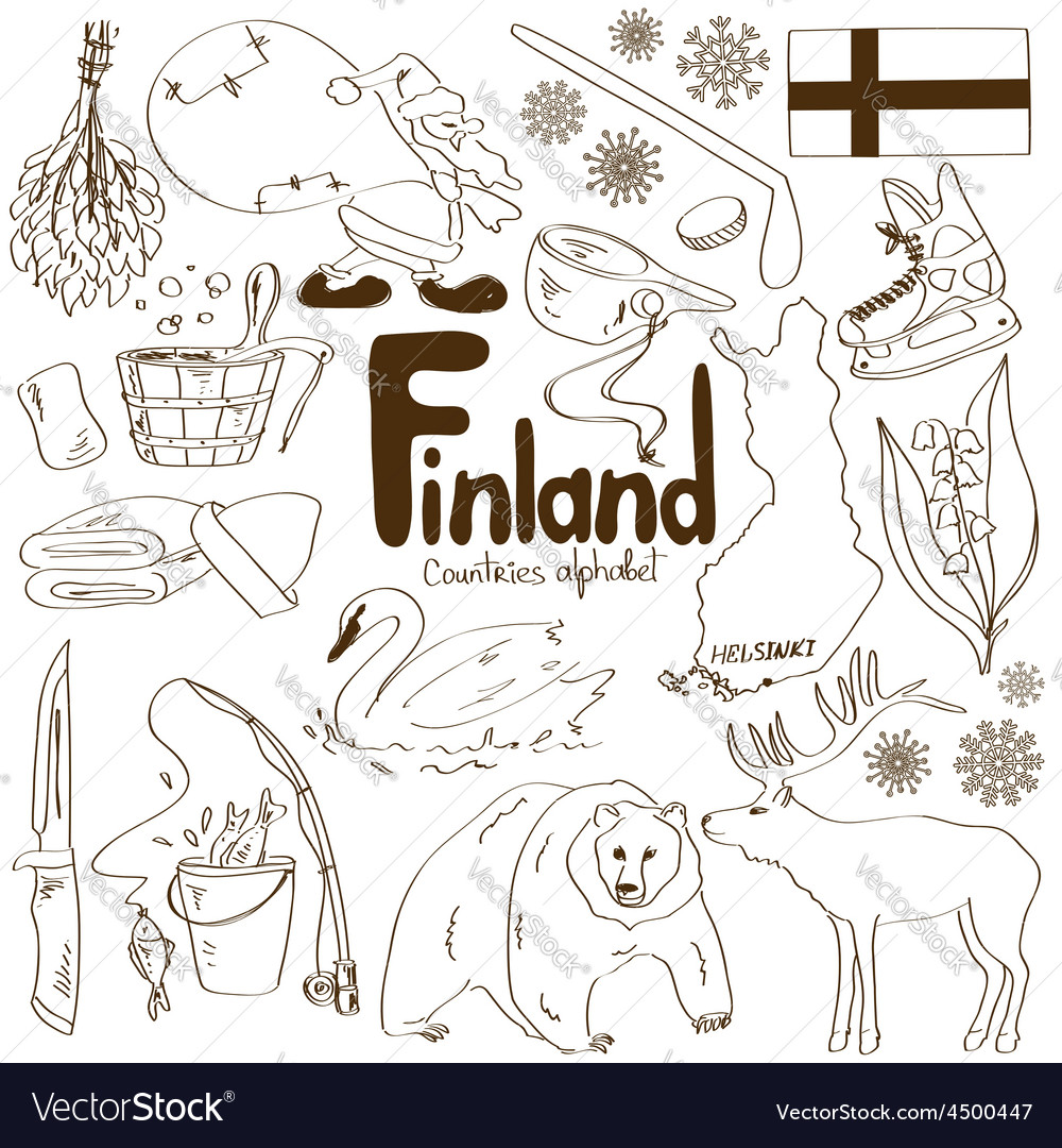 Collection of finland icons vector | Price: 1 Credit (USD $1)