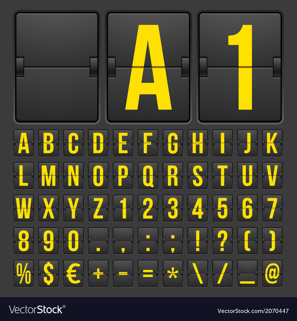 Countdown timer and date calendar scoreboard vector | Price: 1 Credit (USD $1)