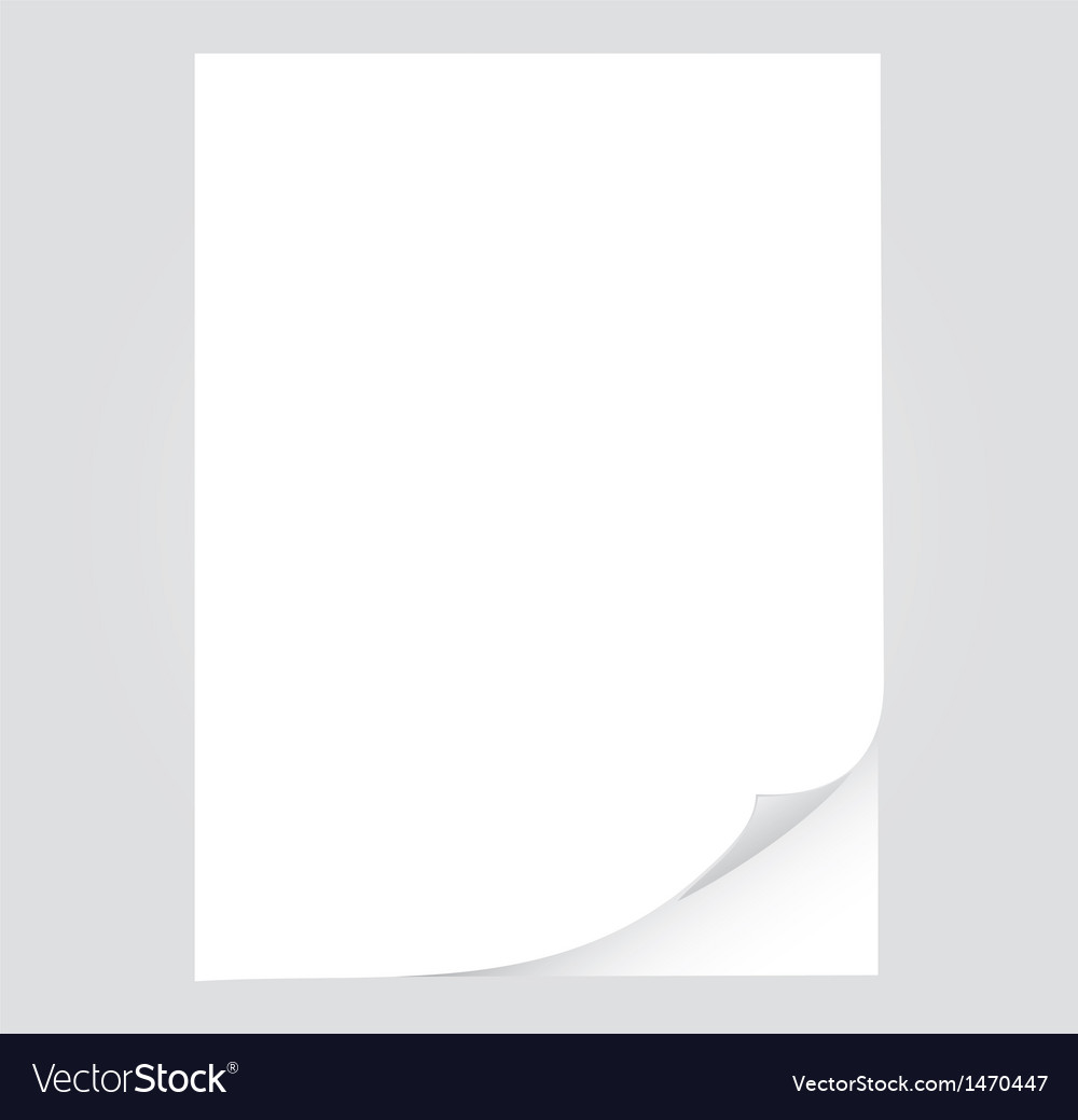 Empty paper sheet vector | Price: 1 Credit (USD $1)