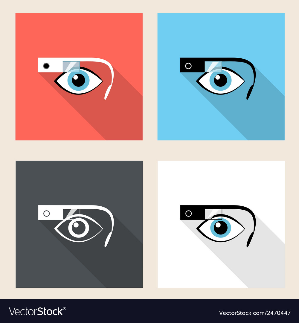 Google glasses icon set vector | Price: 1 Credit (USD $1)