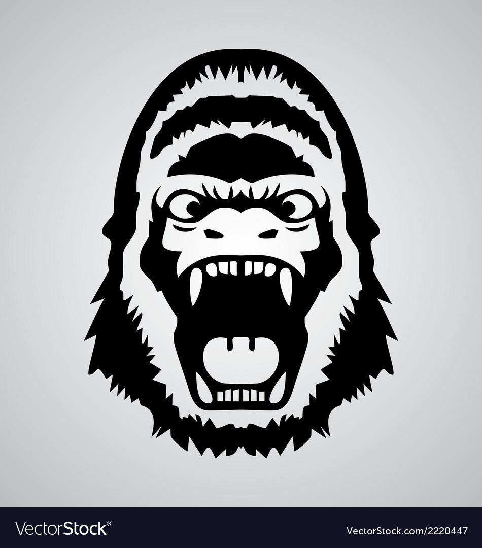 Gorilla face vector | Price: 1 Credit (USD $1)