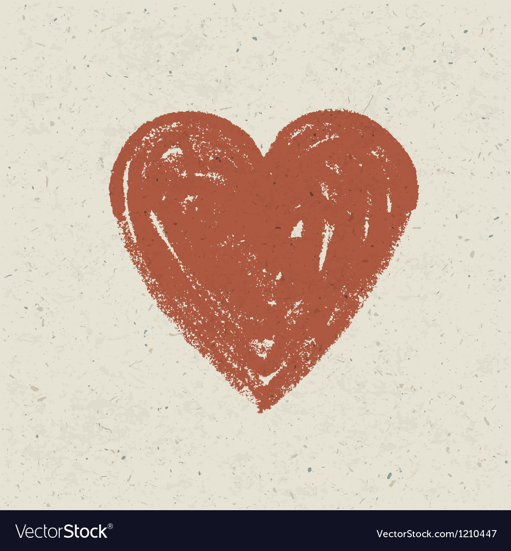 Heart on paper texture vector | Price: 1 Credit (USD $1)
