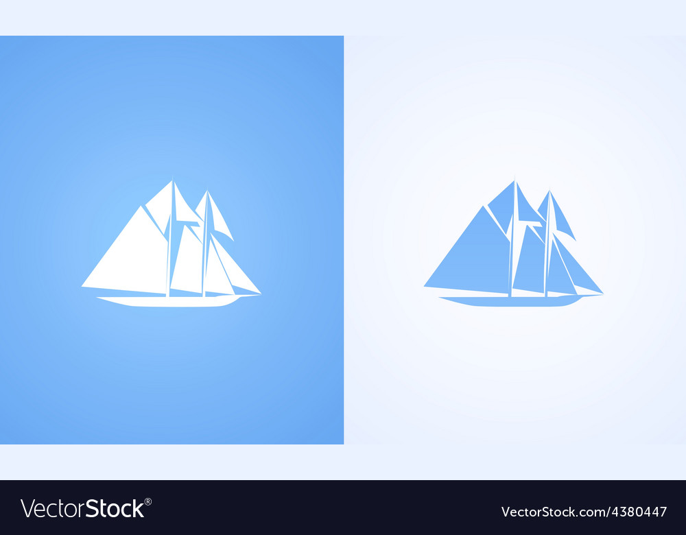 Icon of sailing ship vector | Price: 1 Credit (USD $1)