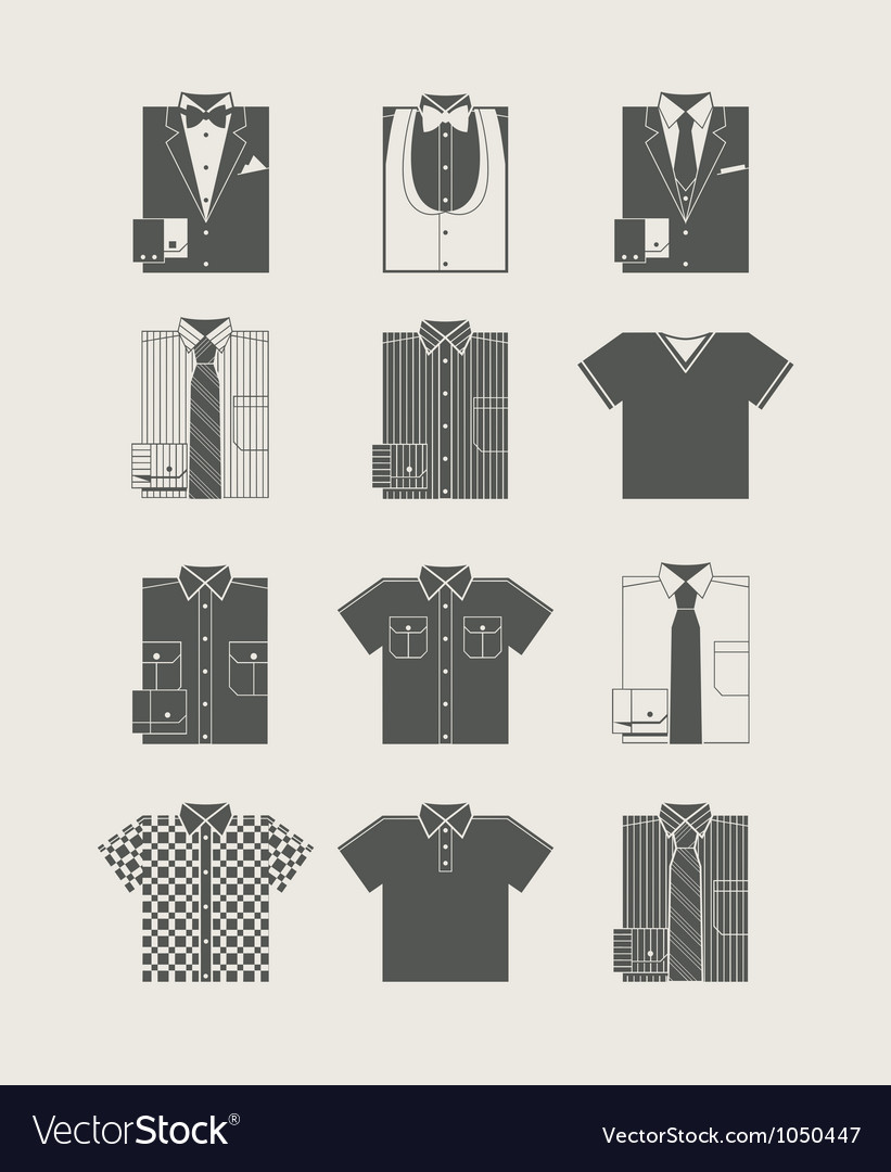 Menswear icon set vector | Price: 1 Credit (USD $1)