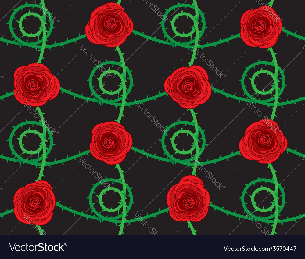 Seamless rose pattern vector | Price: 1 Credit (USD $1)