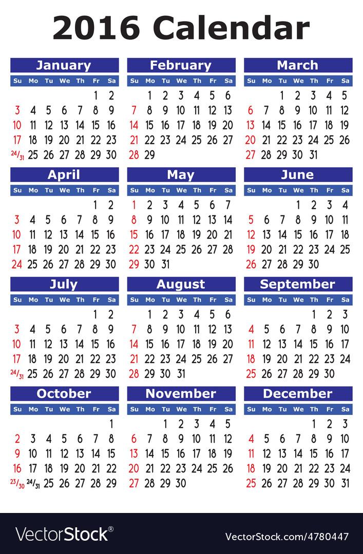 Simple calendar vector | Price: 1 Credit (USD $1)