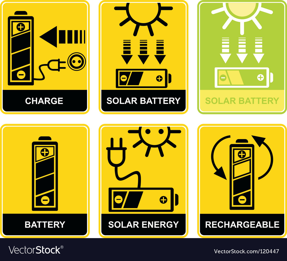 Solar battery charge recharge vector | Price: 1 Credit (USD $1)