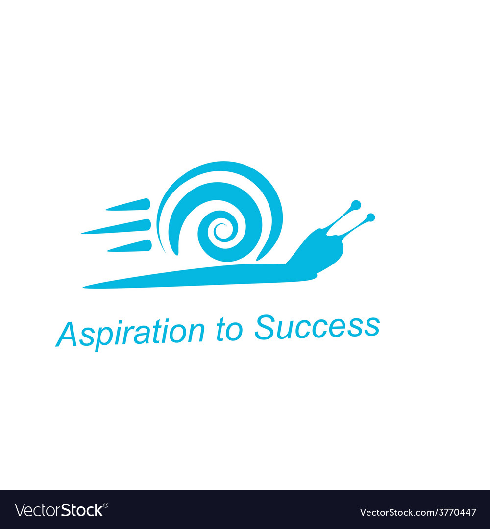 Speedy snail - concept of achieving success vector | Price: 1 Credit (USD $1)