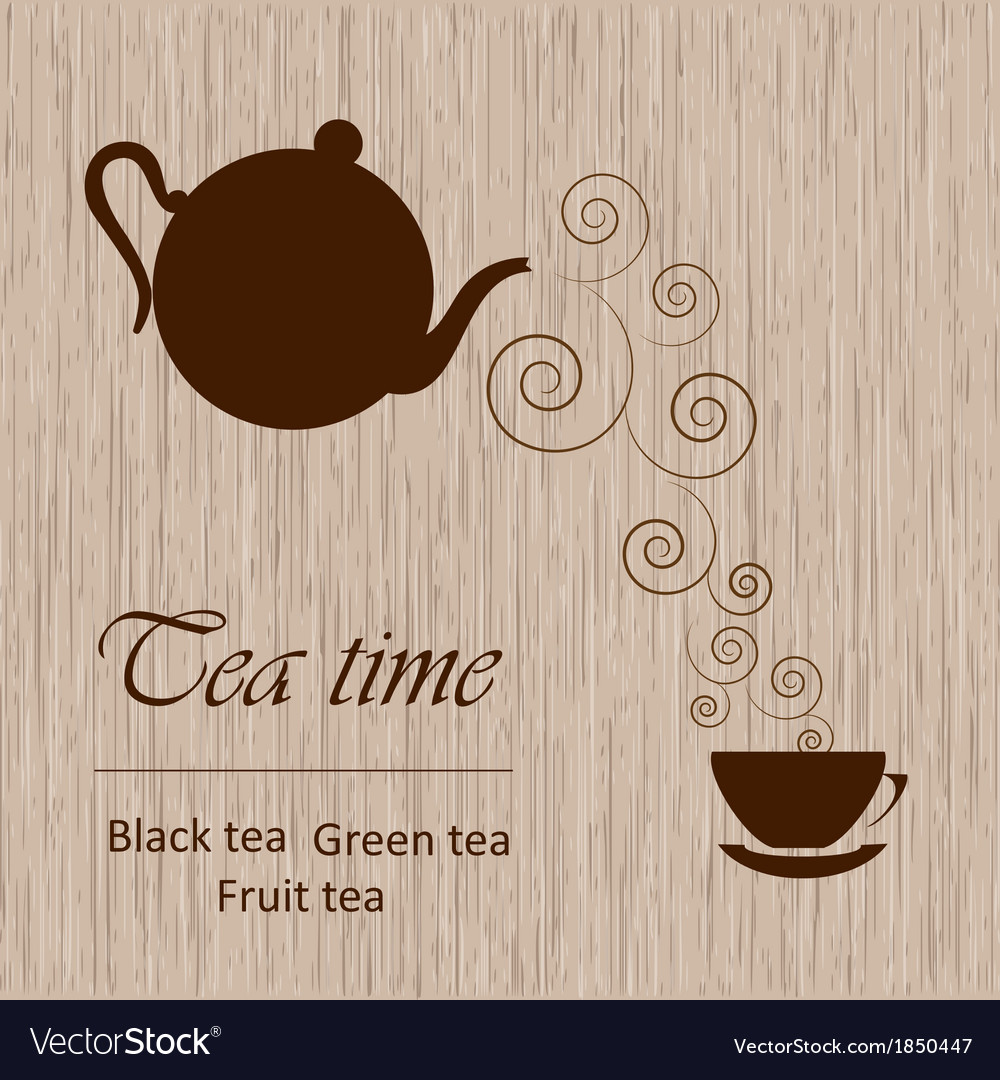 Tea time template vector | Price: 1 Credit (USD $1)
