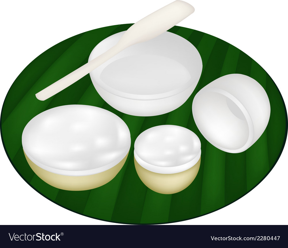 Thai dessert of coconut custard vector | Price: 1 Credit (USD $1)