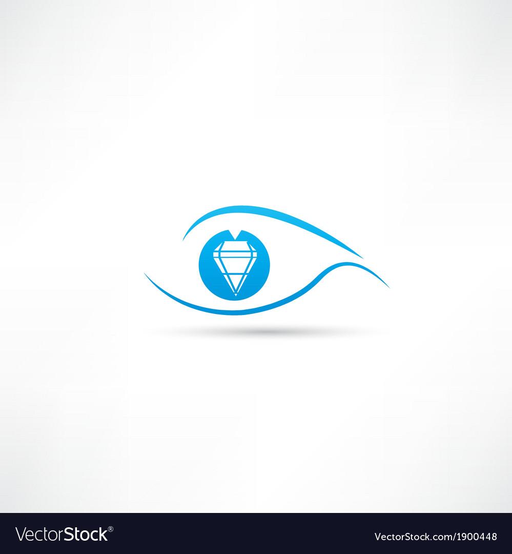 Diamond eyes icon vector | Price: 1 Credit (USD $1)
