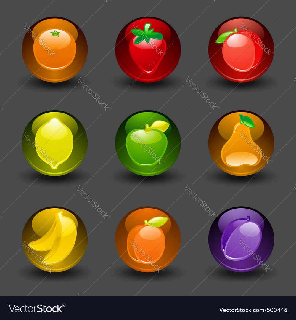 Fruit buttons vector | Price: 3 Credit (USD $3)