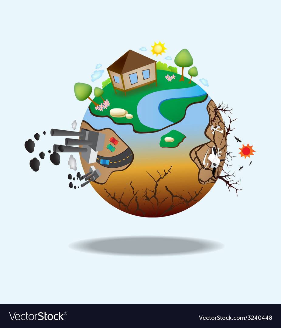 Global warming design 07 vector | Price: 1 Credit (USD $1)