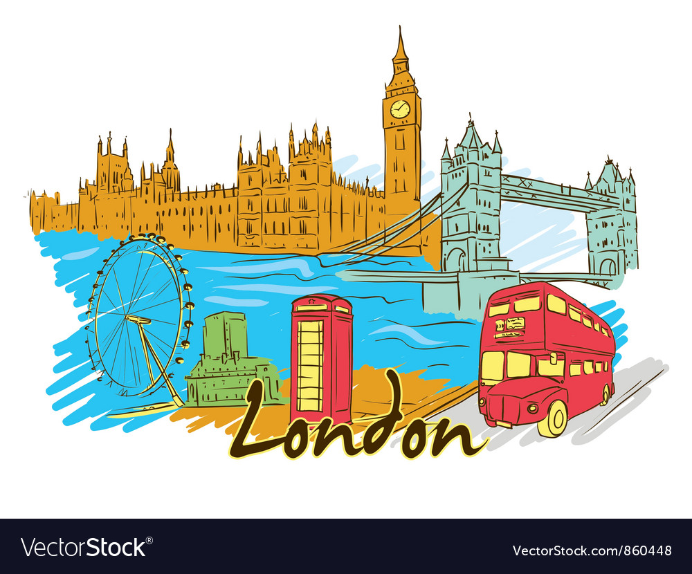 London doodles vector | Price: 3 Credit (USD $3)