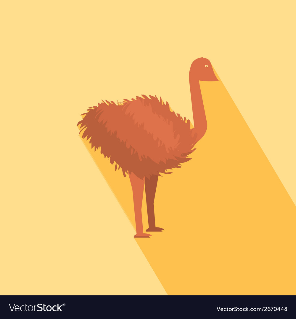 Ostrich icon vector | Price: 1 Credit (USD $1)