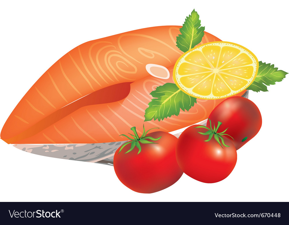 Salmon dish vector | Price: 1 Credit (USD $1)