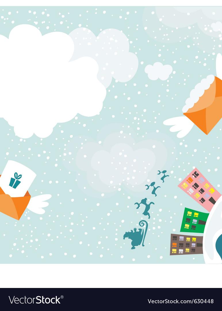 Santa delivery vector | Price: 1 Credit (USD $1)