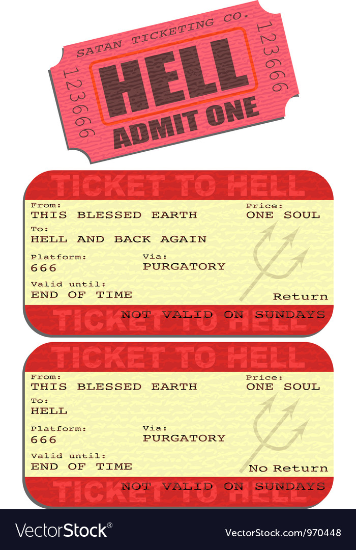 Ticket to hell vector | Price: 1 Credit (USD $1)