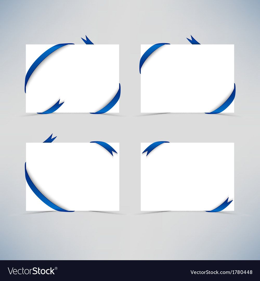 White card with blue ribbons vector | Price: 1 Credit (USD $1)