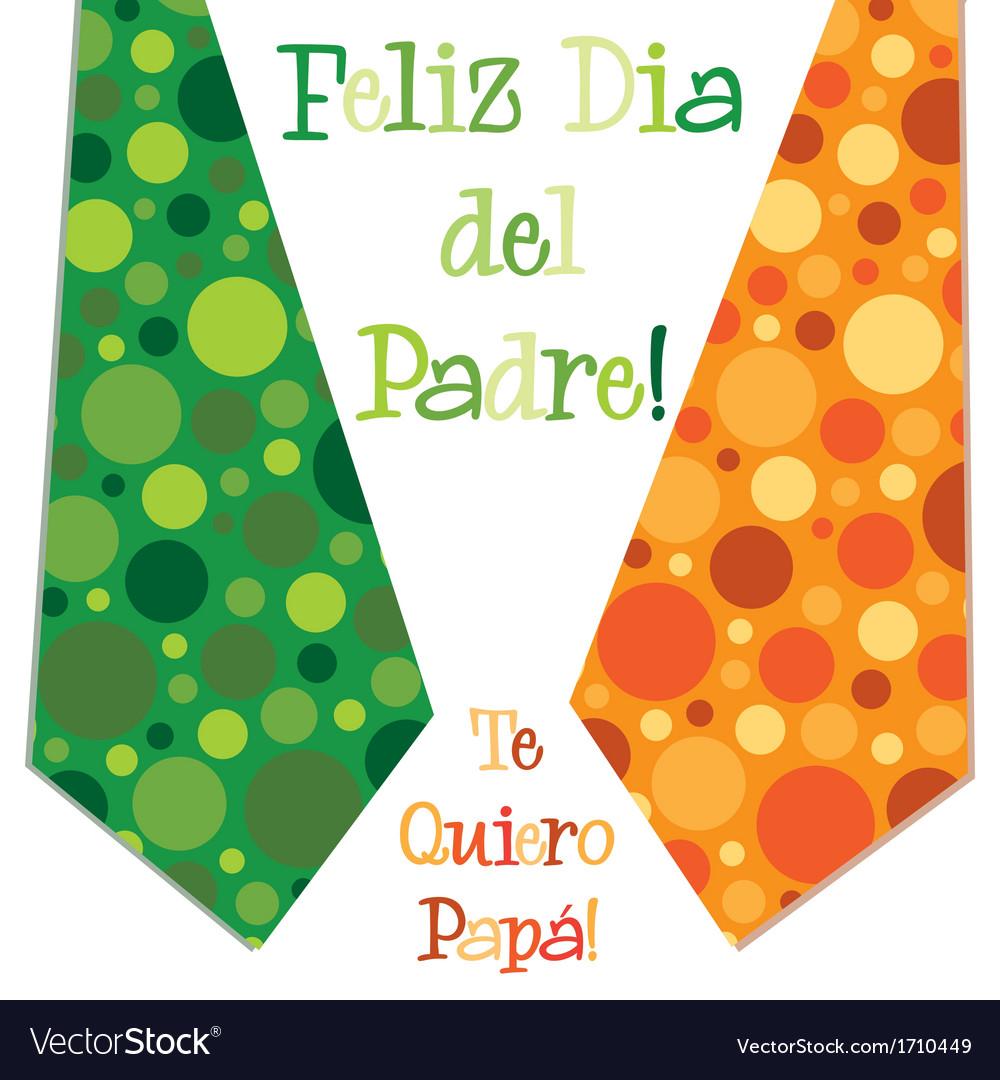 Bright bubble tie happy fathers day neck tie card vector   Price: 1 Credit (USD $1)