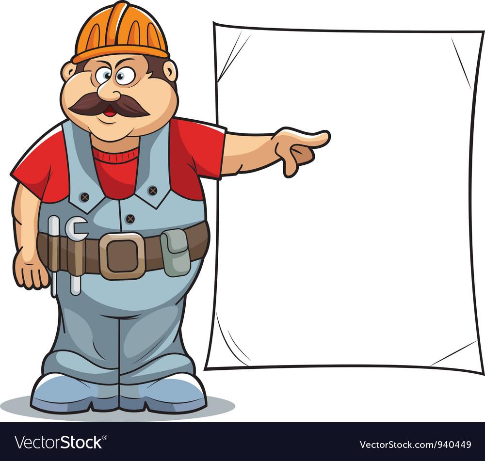 Cartoon builder vector   Price: 1 Credit (USD $1)