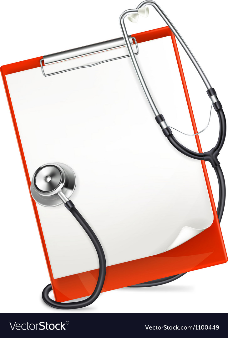 Clipboard with stethoscope vector | Price: 3 Credit (USD $3)