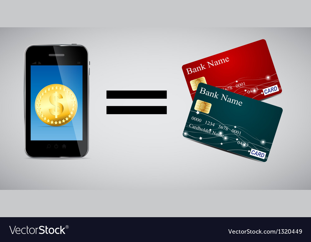 Credit card and phone vector | Price: 3 Credit (USD $3)