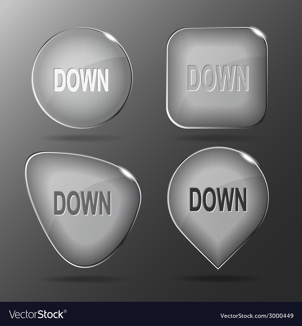 Down glass buttons vector | Price: 1 Credit (USD $1)