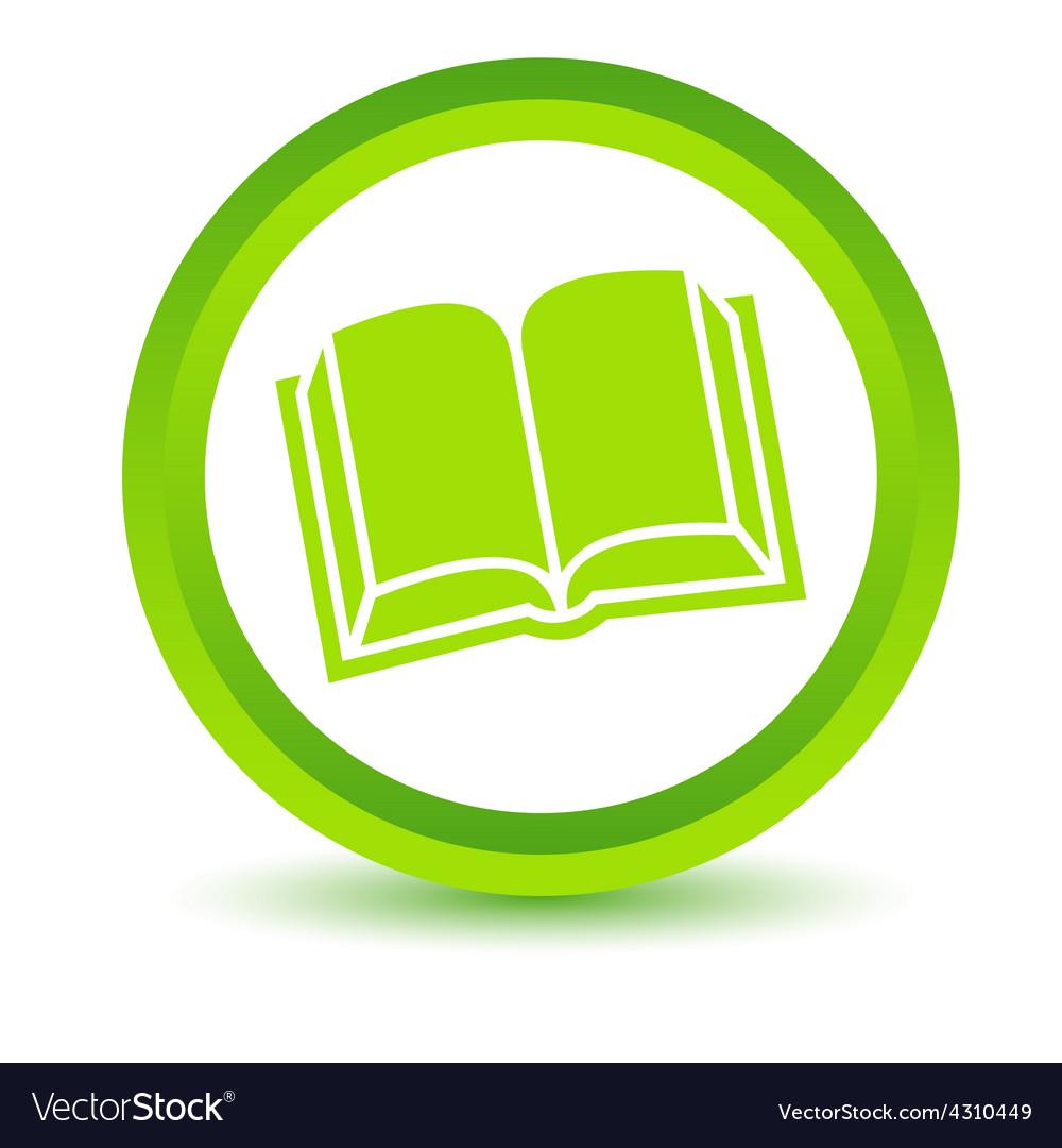 Green book icon vector